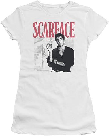 Scarface - Escalera de la Mujer Camiseta, Small, White: Amazon.es: Ropa y accesorios