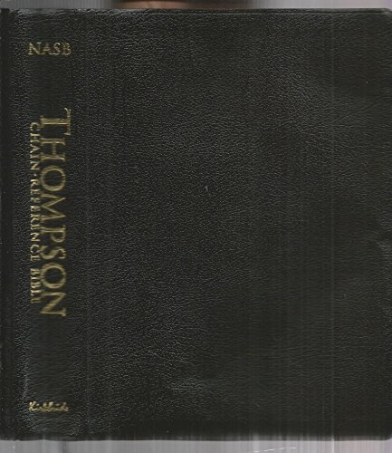 Thompson Chain Reference Bible New American Standard - NASB