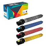 Do it Wiser Compatible Toner Cartridge Set For Ricoh Aficio MP C3001 C2800 MP C3501 MPC3001 MPC3501 - 841578 841423 841422 841421 - Black Cyan Magenta Yellow- Black Yield 22,500 - Color 16,000 Pages