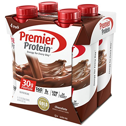 Premier Protein 30g Protein Shakes, Chocolate, 11 Fluid Ounces, 4 Count (Shake Nutrition Protein)