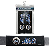 MLB New York Mets Seat Belt Pad (Pack of 2), One Size, White