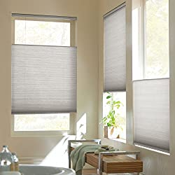Top Down Bottom Up Cordless Cellular Shade Silver Grey 23x64