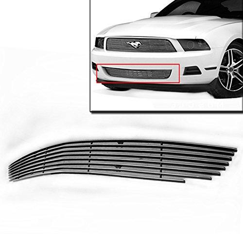 2012 Mustang Billet Grill - ZMAUTOPARTS Bumper Billet Grille Grill Insert For 2010-2012 Ford Mustang V6