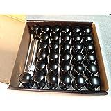 AccuWheel LNS-14150B8 Small Diameter Acorn Spline Drive Black Lug Nuts with Key (14mm x 1.5 Thread Size) - Pack of 32 Lugnuts