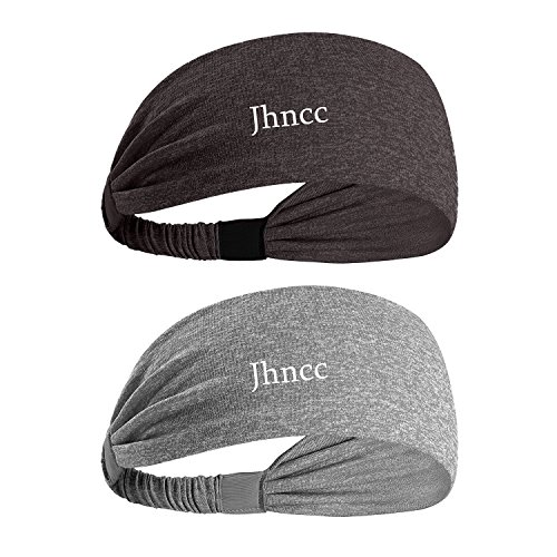 Mens Headbands,Sport Headband Non Slip Moisture Wicking,Ideal Sweat Band for Running,Cycling,Hot Yoga and Athletic Workouts and Fashion 2 pack