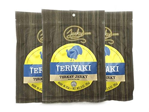 Jerky.com's Teriyaki Turkey Jerky - 3 PACK - Try Our Best Tasting Turkey Jerky...