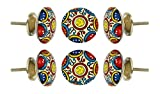 Set of 6 Ceramic Canterbury Cabinet Drawer Knobs Kitchen Cupboard Door Knob Dressser Wardrobe Pull by Trinca-Ferro