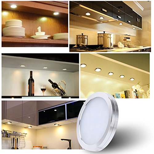RONRI Under Cabinet Lighting Kit, 1500m Puck Lights, Under Counter Lighting, 4000K Natural White, All Accessories Included, Kitchen Lighting, Closet Light, Set of 6 by RONRI (Image #7)
