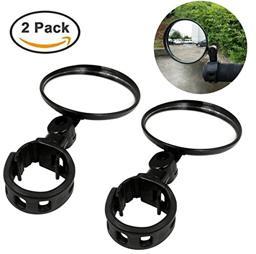 Ibely 2 Pack Bike Mirror Handlebar End Glass Bicycle Mirrors 360 Rotation Rearview Mirror for Mountain BikeOff-Road Bike and Fixed Gear Bike by Ibely (Image #6)