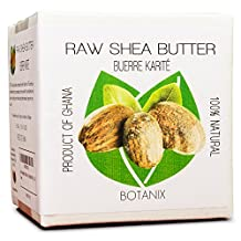 SHEA BUTTER Raw-Unrefined 100% Pure Grade-A Botanix Shea-Butter ( 1.1lb / 17.6 oz / 500 g )