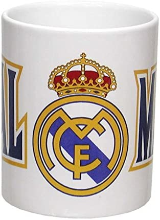 Real Madrid C.F. Taza en Estuche, Cerámica, Blanco, 9 x 8 x 6 cm, 12 Unidades: Amazon.es: Hogar