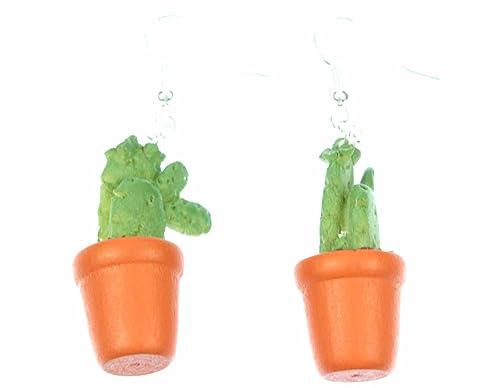 Cactus Appendiabiti.Pera Orecchini Pianta In Vaso Cactus Appendiabiti Miniblings Vaso Di