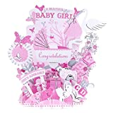 Paper Spiritz Newborn Baby Girl Pop up Greeting Cards Mother's Day Postcard Thank You Mom Matching Envelope Laser Cut Handmade 3D Birthday Post Card (Pack of 1)