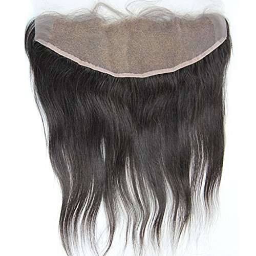 Persephone 13x4'' Full Lace Frontals Ear To Ear Free Part Brazilian Virgin Hair Straight Human Hair Lace Front Closures With Baby Hair Bleached Knots Natural Color 16 inches by Persephone