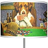 Dogs Playing Poker by C.M.Coolidge 13'' Drum Lamp Shade Polyester
