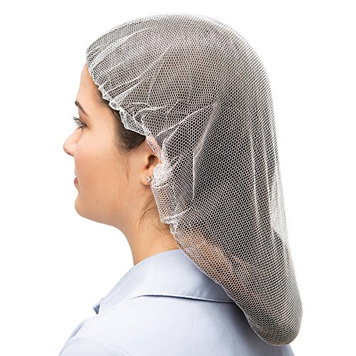 (AMMEX Hair Nets - Nylon, White, 24