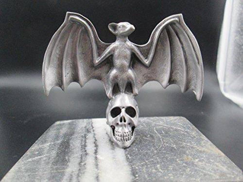 Vampire Bat On Skull Hotrod Ratrod Car Hood Ornament