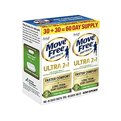 Image of Schiff Schiff Move Free Ultra 2 in 1 with Comfort max Twin Pack 30 Count, White, 30 Count (Pack of 6) Health and Household