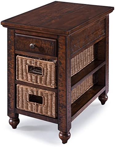 Magnussen T3521 Cottage Lane Casual Distressed Coffee Rectangular Chair Side End Table