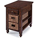Magnussen T3521-10 Cottage Lane T3521 Cottage Casual Distressed Coffee Rectangular Chair Side End Table