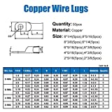 50pcs Copper Wire Lugs,10 Types UL Listed Heavy