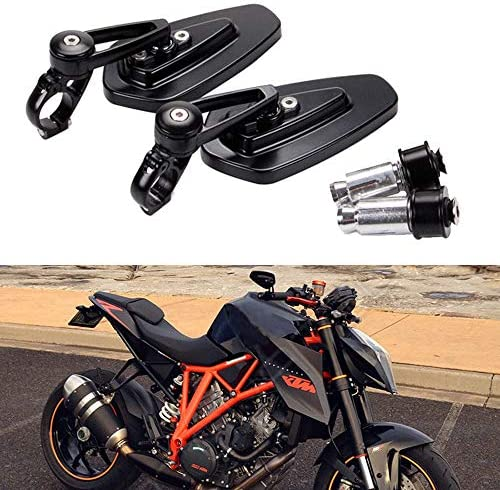 Black Motorcycle Bar End Mirrors Rear View CNC For Honda GROM MSX125 CB500F Kawasaki Z125 pro Z650 Z750 Z800 Z900 ER6N ER6F Yamaha MT-03 MT-07 FZ-07 MT-09 FZ-09 MT-10 FZ-10 MT-25 FZ6 FZ8 FZ6R