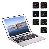 ElementDigital iPad Pro 12.9 inch Bluetooth Keyboard Case iPad Stand Adjustable Viewing Angle 81 Keys Wireless Keypad for iPad Pro 12.9 inch with Dream Color Backlit Auto Sleep Wake (Silver)