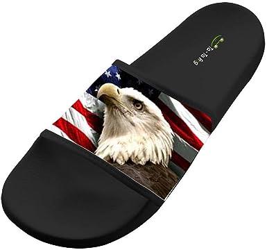 Dlongge American Bald Eagle Comfortable Slipper Summer Sandal Cool Graffiti Designs For Men /& Women