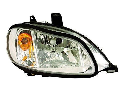 HEADLIGHTSDEPOT Chrome Housing Headlight Compatible with International International Harvester 4100 4200 4300 4400 8500 TranStar 8600 Includes Right Passenger Side Headlamp by DEPO