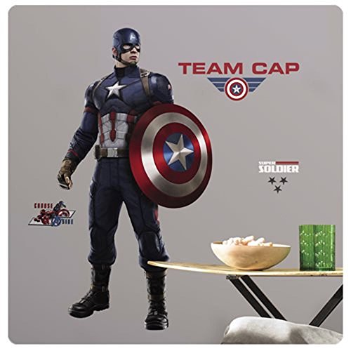 Captain America Civil War Peel and Stick Giant Wall Decals 25 x 48in