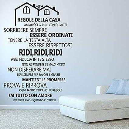 Adesivo murale conLe regole della casa 80x30cm