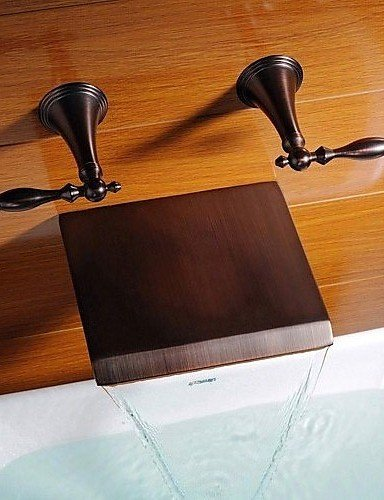 Dahuuyus Modern Taps Mixer Kitchen Sink Taps Widespread Waterfall Bathroom Ceramic cartridge Bathtub Faucet Bathtub Faucet - Antique - Waterfall Oil-rubbed Bronze) by Dahuuyus Faucet