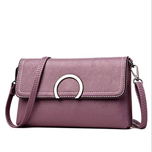 XDDB Bolso De Hombro De La Mano Bolsas De Mensajero De La Mujer Light Purple