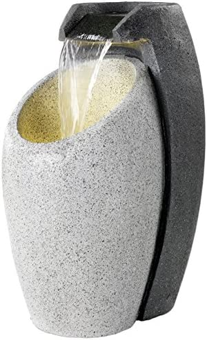 Direct Global Trading Led Lit Oval Pouring Modern Outdoor Fountain Garden Water Feature Amazon Co Uk Garden Outdoors