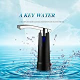 AerWo Best for Home Use Battery-Operated + Electric Drinking Bottled Water Pump Desk Top Water Dispenser, White