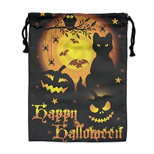 LPYHB-U8 Happy Halloween Pumpkin Scarecrow Tour 2017 Fan Logo Canvas Cotton HandBags