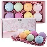 Anjou Bath Bombs Gift Set, 8 x 4.0 oz Vegan Natural Essential Oils, lush Fizzy Spa Moisturizes Dry Skin, Bubble Baths, Perfect Gift Kit Ideas for Girlfriends, Women, Moms