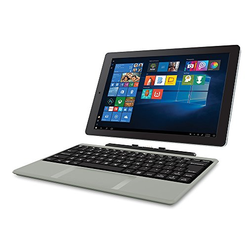 "2018 Newest Premium High Performance RCA Cambio 10.1"" 2-in-1 Touchscreen Tablet PC Intel Quad-Core Processor 2GB RAM 32GB Hard Drive Webcam Wifi Microsoft Office Mobile Bluetooth Windows 10-Silver"