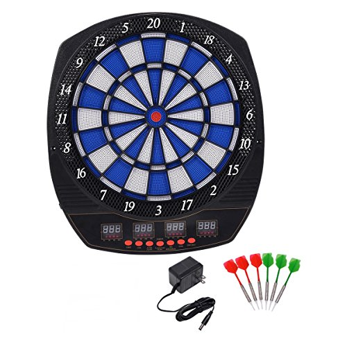 20'' Electronic Dart Board LCD Display Sound Effects w/ Score Review by FDInspiration