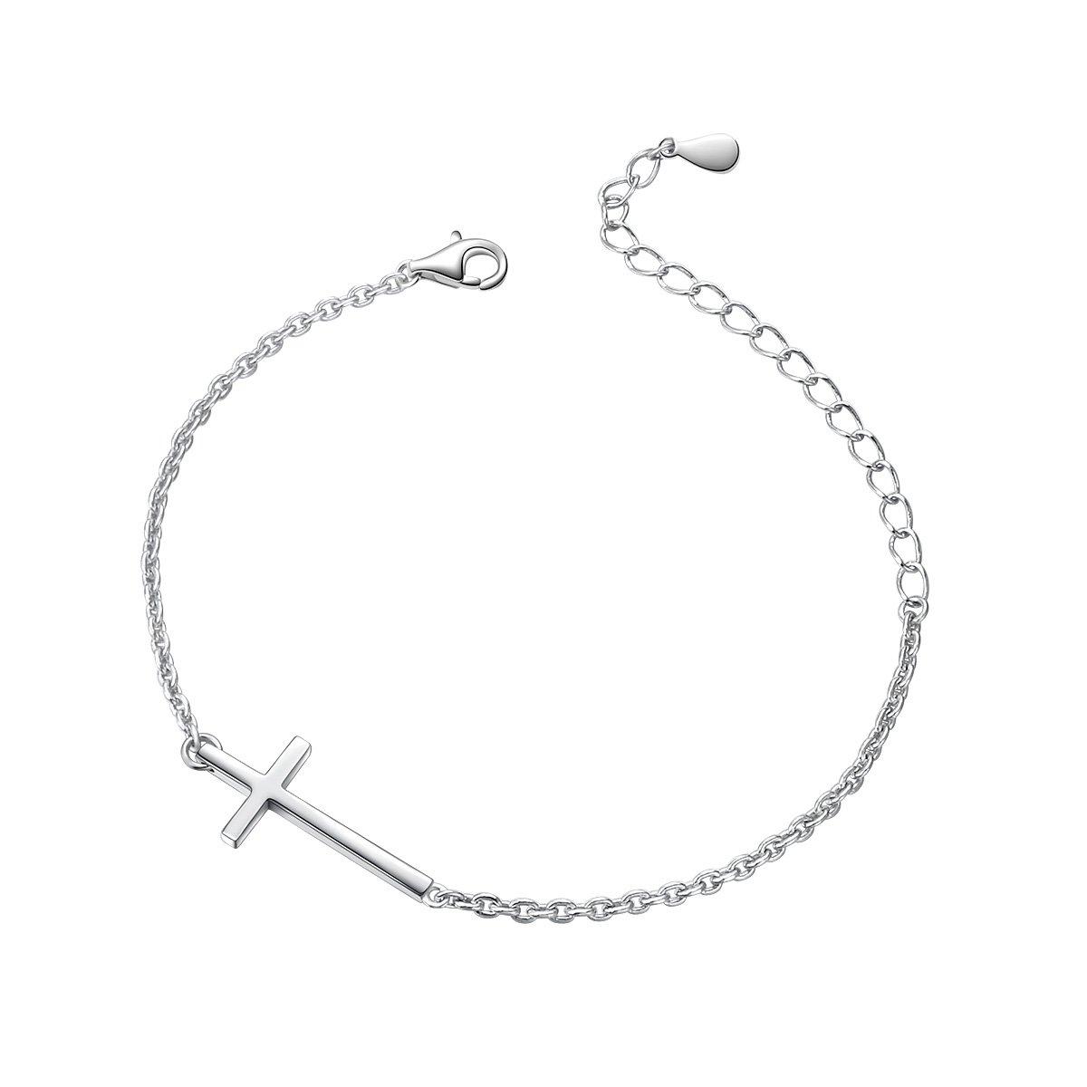 Cross Anklet for Women S925 Sterling Silver Adjustable Foot Ankle Bracelet