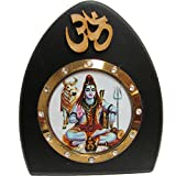Om Shiva Desk Dashboard Acrylic Frame Art Hindu Altar Yoga Meditation Accessory