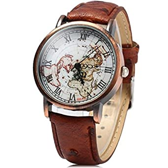 Buy love street vintage world map watch brown online at low prices love street vintage world map watch brown gumiabroncs Images