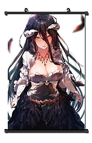 MXDZA Japanese Anime Overlord Fabric Painting Anime Home Decor Wall Scroll Posters for Decorative 40x60CM