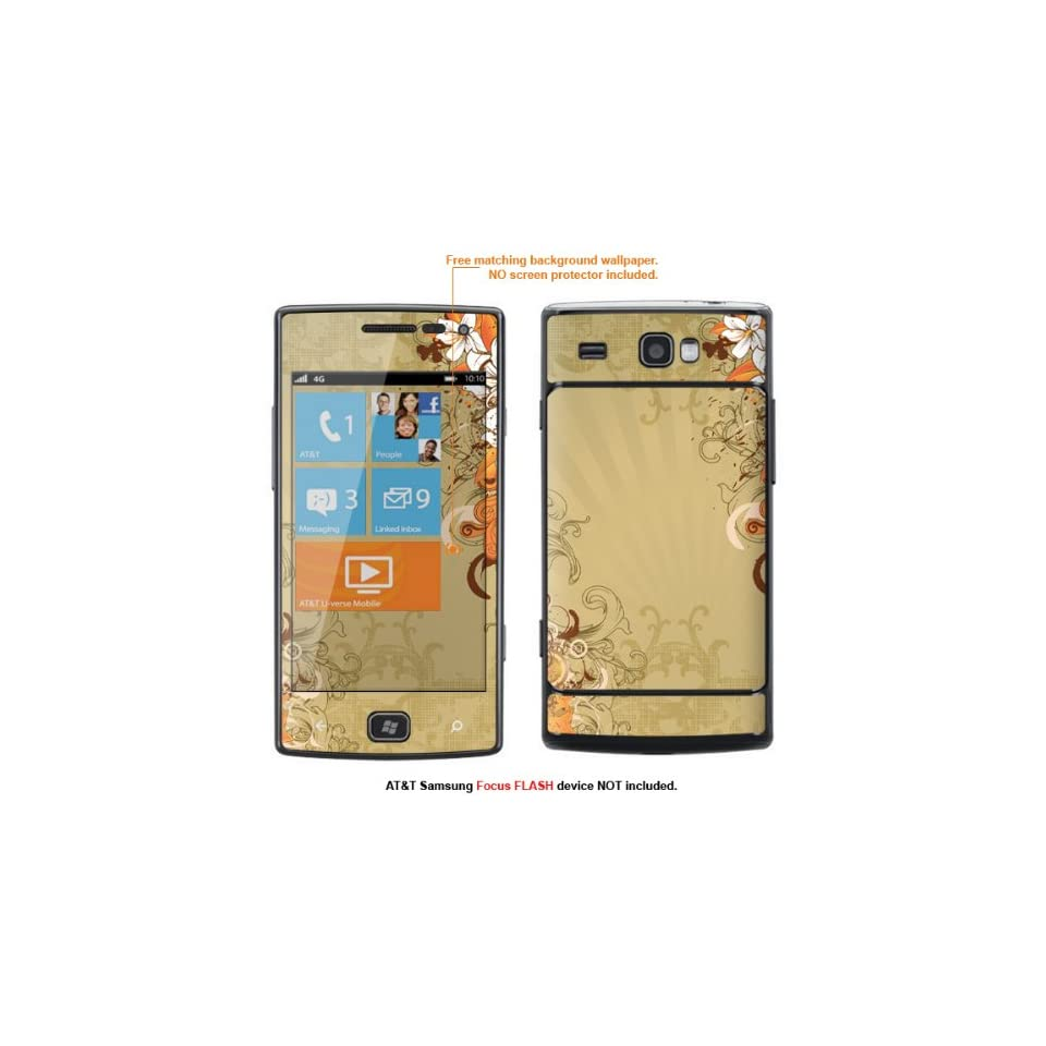 Protective Decal Skin Sticker for AT&T Samsung Focus Flash (Only fit Focus Flash Model) case cover FocusFLASH 104