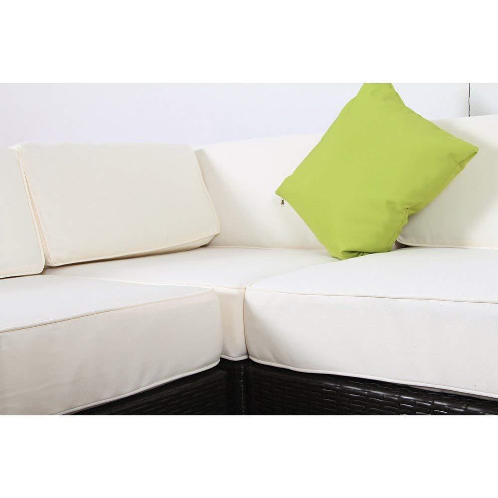 Amazon.com : BroyerK 7-Piece Outdoor Rattan Patio Furniture ...