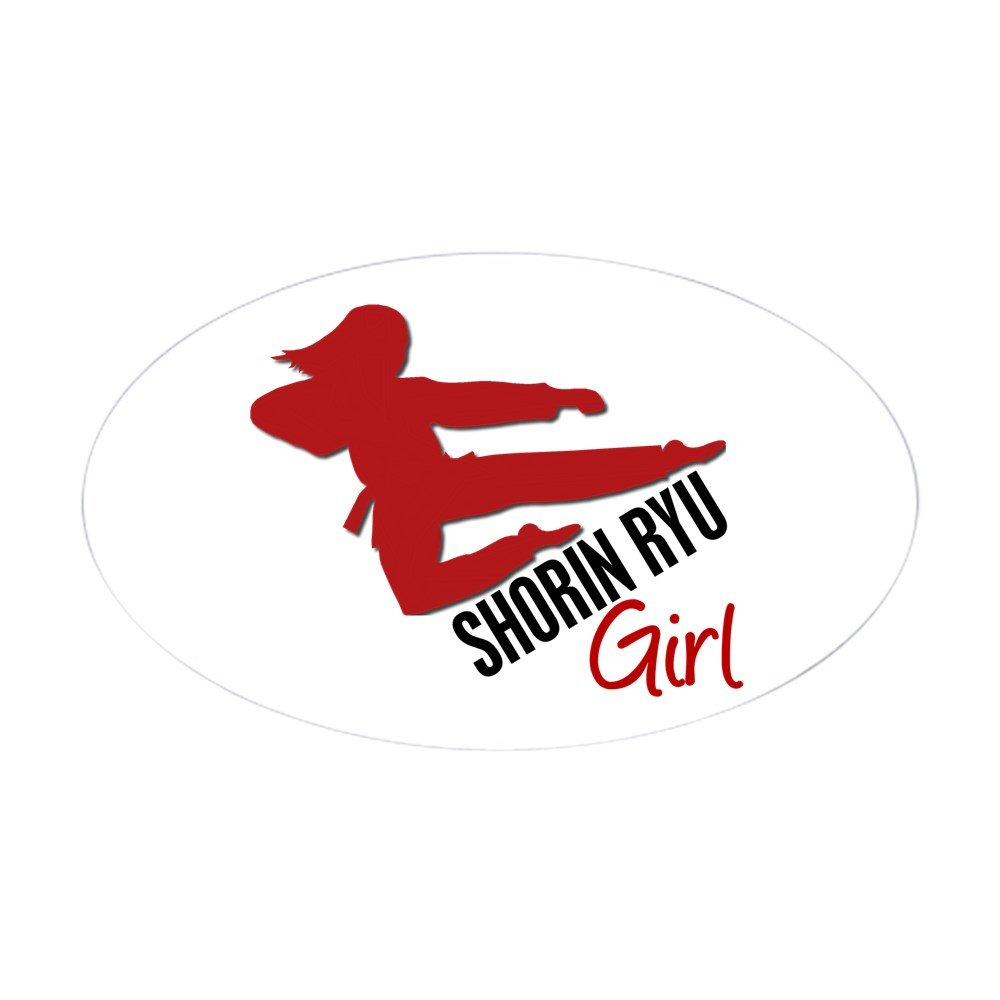 Amazon com cafepress shorin ryu girl oval sticker oval bumper sticker euro oval car decal home kitchen