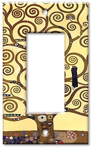 Art Plates - Klimt: The Tree of Life Switch Plate - Single Rocker