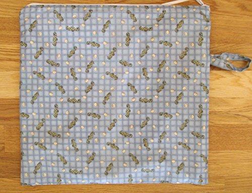 Wet Bag Cloth Diaper Swim Beach Nautical Seahorses by Cape Cod Sewing Creations