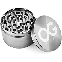 The OG Spice Herb Grinder with Pollen Catcher (2.5 Inch) Herbal, Tobacco, Weed | Compact Kitchen Cooking Accessory | Zinc Alloy Metal, Ultra-Sharp Grinding Teeth (V2)