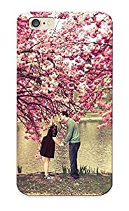 DDb141FDcFS Tpu Phone Case With Fashionable Look For Iphone 6 - Kissing Under The Cherry Trees Case For Christmas Day's Gift